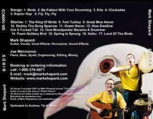 Drums, songs and stories about birds by Mark Shepard