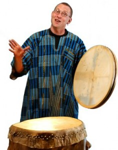 Mark Shepard performing the Drum of the Elephant King