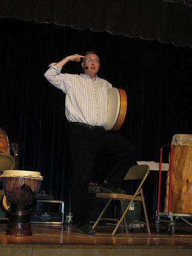 """Mark Shepard performs the DrumSongStory, """"Curiosity"""""""